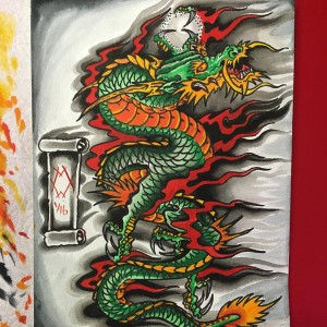 dragon of the month 2016 watercolor